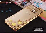Bling Diamond Clear Case for Samsung Galaxy J3 2016 Case Silicone TPU Cover For Fundas Para Samsung J3 Case J5 J7 A5 A3 S7 edge - East Gold