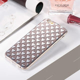 Luxury Shining Bling Pink Love Heart Phone Case Anti-knock TPU Glitter Case for Iphones - East Gold
