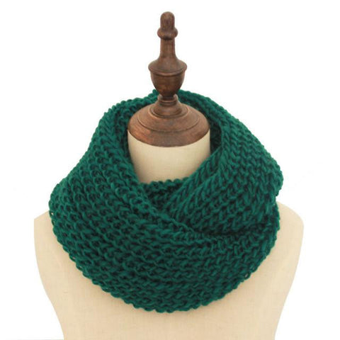 Winter Knitted LIC For Women Lovers Solid Scarf - East Gold