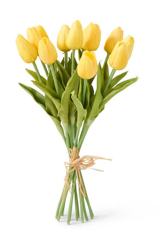 "13.5"" Yellow Real Touch Mini Tulips"