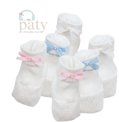 Paty Booties W/ Bow in 4 Colors