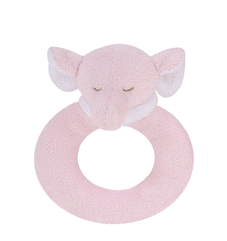 Angel Dear Pink Elephant Rattle