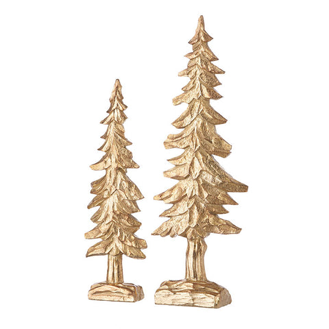 "Set of Two 18"" Gold Trees"