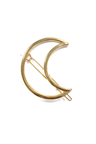 Gold Moon Hair Pin