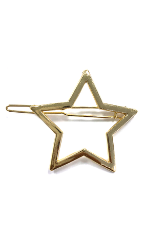 Single Star Gold Hair Pin