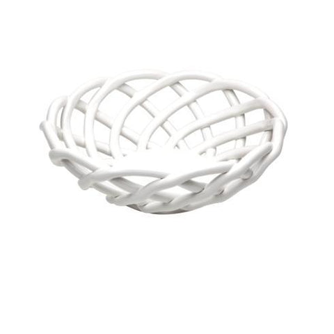 Medium Round Basket white