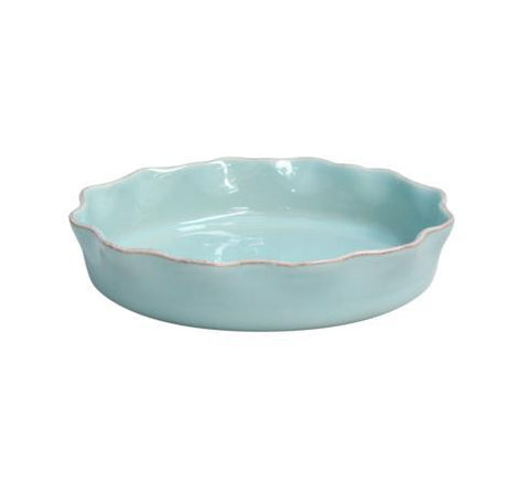 Ruffled Pie Dish Blue