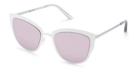 Quay Eyeware Super Girl - White/Lilac Mirror