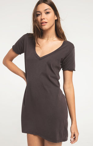 Graphite cotton T-shirt Dress