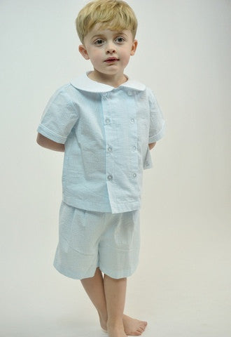 AK Boys Short Set - Blue 3034