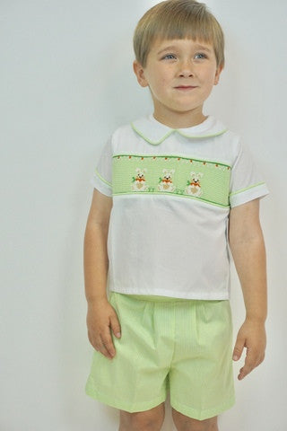 Remember Nguyen 2pc Smocked Bunny Short Set