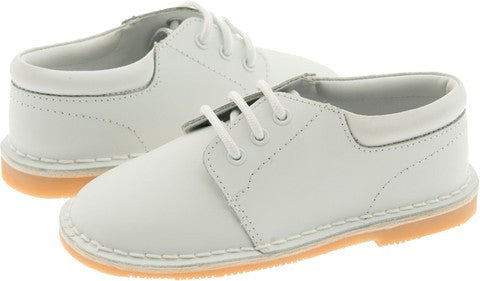 Boys White Church Shoe