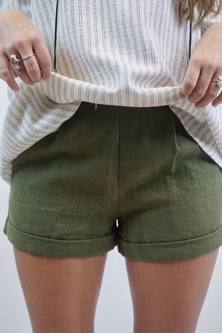 MR Hunter Green Shorts with Cuff