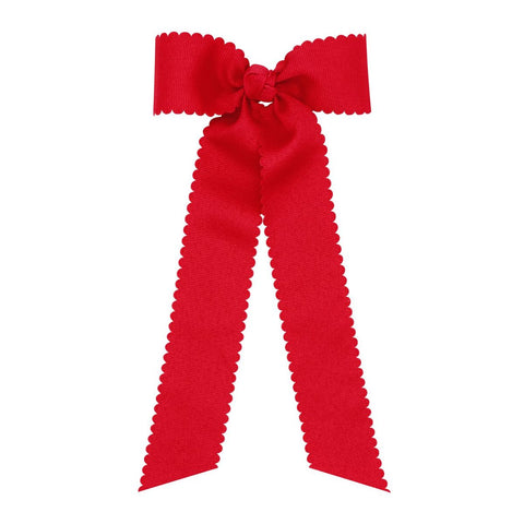 Medium Scalloped Bow-4 Colors