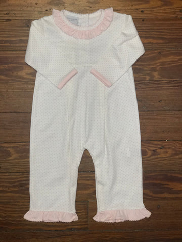 Squiggles Pink Dot LS Coverall