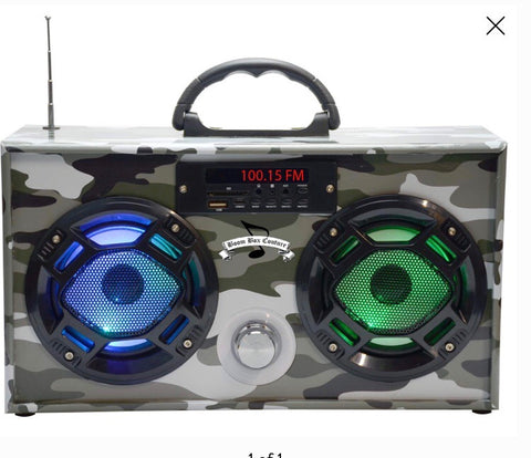 Mini Boom Box Blue Tooth Speaker Green