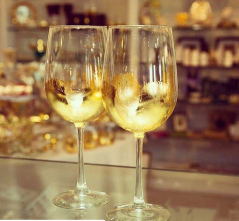 Gold Stemmed Wine Glass