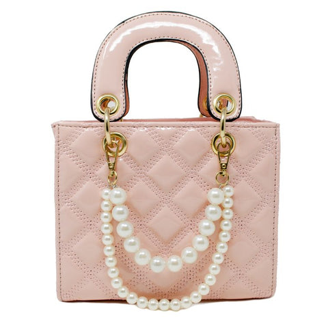 Jumbo Quilted  Pink Leather Bag