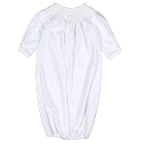 White Smocked Pima Bishop Gown