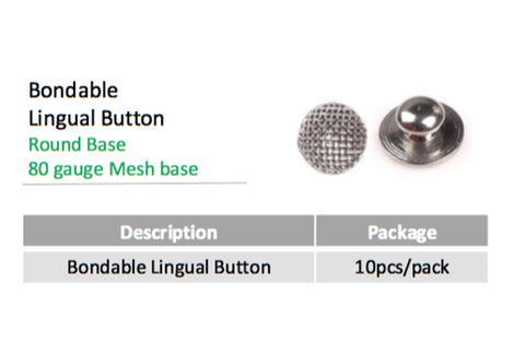 Bondable Button Round Base, Mesh Pad $.75/Button