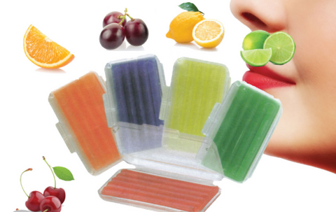 Orthodontic Wax - 5 packs (includes, one lime, one grape, one cherry, one orange, and one lemon)