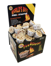 Open box of 50 quick wick fire starters