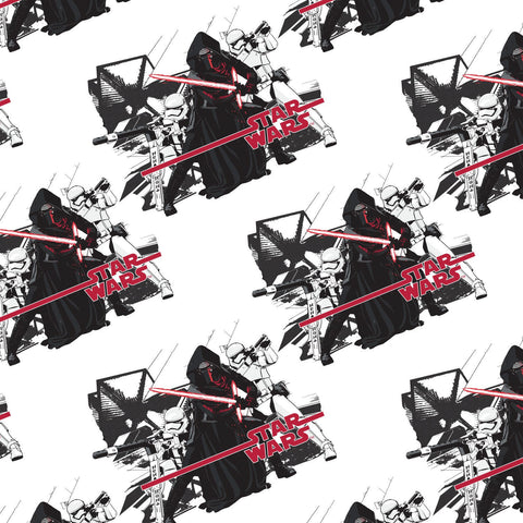 White Star Wars The Force Awakens Imperial Fabric