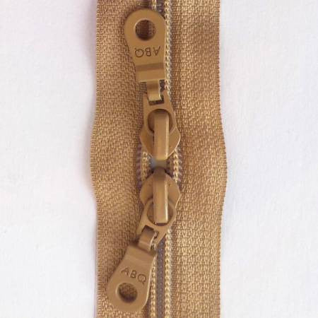 "Natural Double Pull 30"" Zipper"