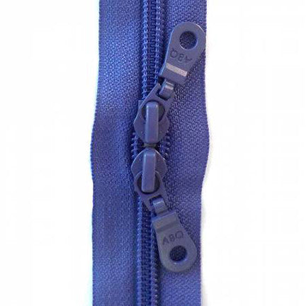 "Dusty Peri Double Pull 30"" Zipper"
