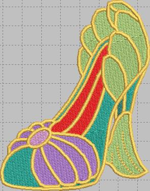 Ariel Mermaid Shoe Digital Embroidery Design File