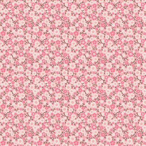 Cowgirl Calico Pink Floral Fabric