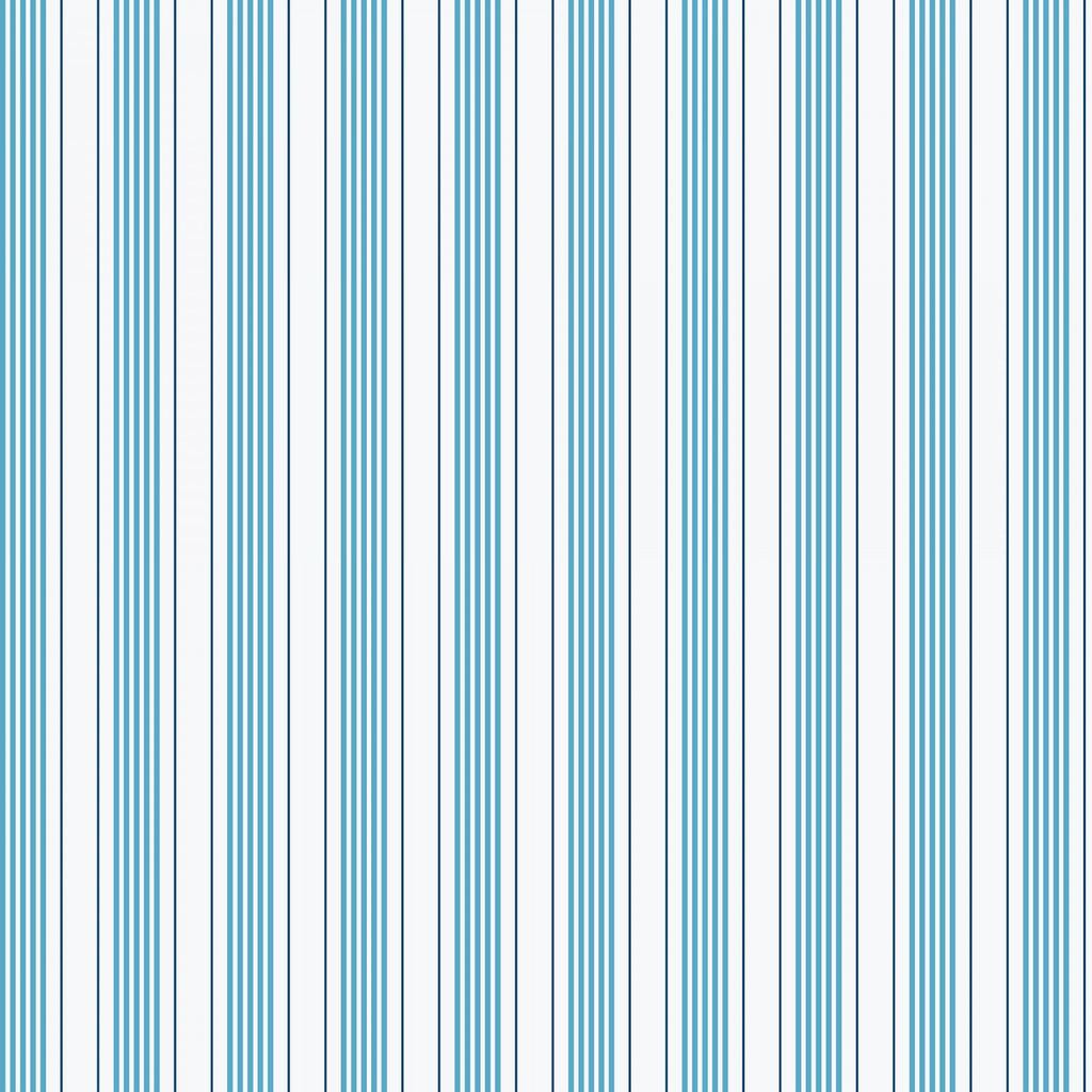 Sea Stripe Blue Fabric