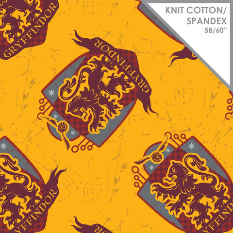 Stretchy Harry Potter Griffindor Knit Fabric