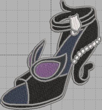 Cat Woman Shoe Digital Embroidery Design File