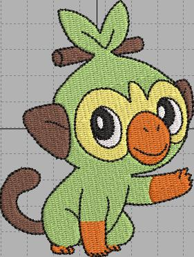 Grookey Pokemon Digital Embroidery Design File