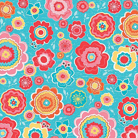 Tree Party Floral Knit Fabric