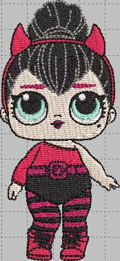 Devil LOL Doll Digital Embroidery Design File