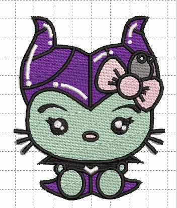 Maleficent Kitty Digital Embroidery Design File