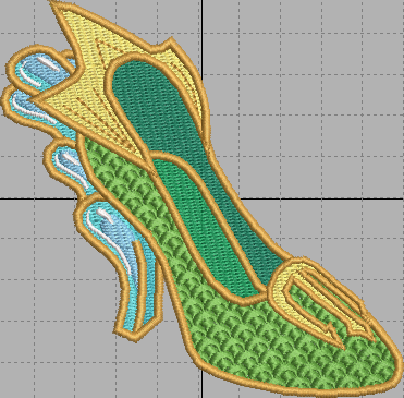 Mera Shoe Digital Embroidery Design File