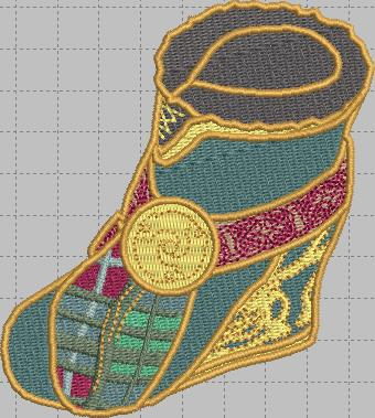 Merida Shoe Digital Embroidery Design File