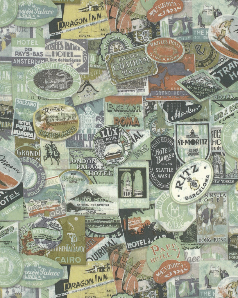 Multi Travel Labels Fabric