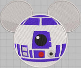 R2D2 Mickey Head Digital Embroidery Design File