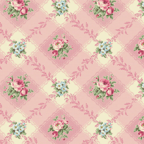 Love Rose Love Pink Diamond Gingham Fabric