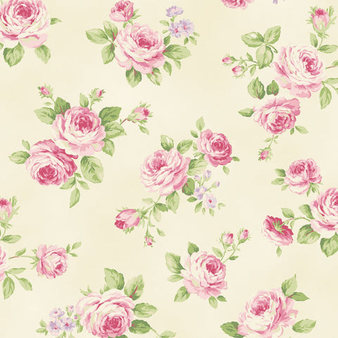 Love Rose Love Cream Small Rose Fabric