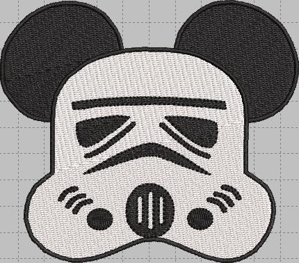 Storm Trooper Mickey Head Digital Embroidery Design File