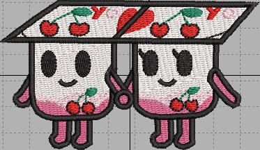 TokiDoki Yogurt twins Digital Embroidery Design File