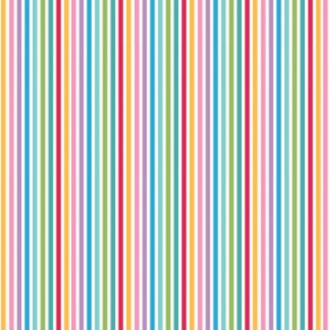 Rainbow Multi Stripe Cotton Fabric