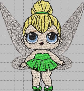 Tinkerbell LOL Doll Digital Embroidery Design File