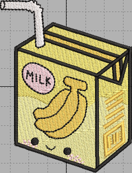 Banana Milk Digital Embroidery Design File