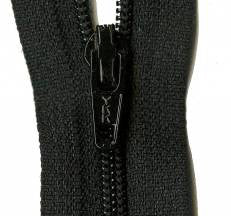 "Basic Black 22"" Zipper"